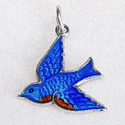 Sterling & Enamel BLUEBIRD OF HAPPINESS Wells Vintage Charm