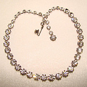 SALE PENDING Fabulous WEISS Signed Vintage RHINESTONE NECKLACE