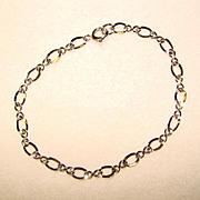 Vintage STERLING SILVER Charm Starter Bracelet