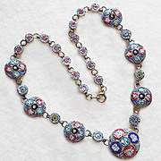 Fabulous ITALIAN MICRO MOSAIC Vintage Necklace