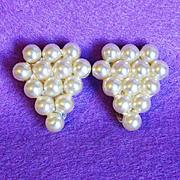 Gorgeous Art Deco Faux Pearl Vintage Dress Clips