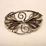 Fabulous STERLING Lily Design Vintage CUFF BRACELET