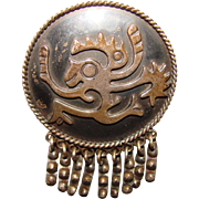 Fabulous MARICELA TAXCO STERLING Mexican Signed Pendant Brooch