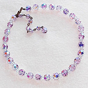 Gorgeous LAVENDER AURORA CRYSTAL Vintage Necklace