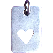 Romantic STERLING PEEK A BOO HEART Vintage Pendant