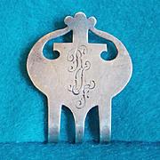 Antique STERLING Signed Engraved RMF Napkin Holder