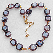Gorgeous GIVRE GLASS Unusual Beads Vintage Necklace
