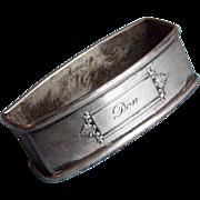 Gorgeous WEBSTER STERLING Engraved Don Napkin Ring
