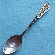Vintage STERLING & ENAMEL Canadian Souvenir Spoon