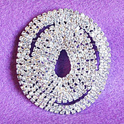Gorgeous LES BERNARD Signed Rhinestone Vintage Pin Brooch