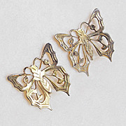 Gorgeous STERLING BUTTERFLY Vintage Earrings