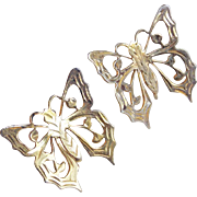 Gorgeous STERLING BUTTERFLY Vintage Earrings