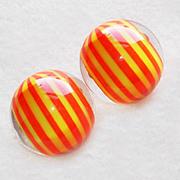 Groovy 1960s Orange & Yellow Lucite Vintage Estate Earrings