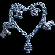 BLACK HILLS STERLING Signed Vintage Charm Bracelet