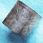 Victorian Sterling Aesthetic Antique Napkin Ring