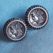Gorgeous Sterling Mercury Vintage Earrings