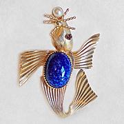 Vintage 12K Gold Filled Seal Pin Brooch