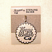 Awesome Beau Sterling Silver HAPPY BIRTHDAY Charm