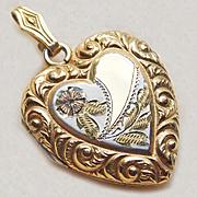 Fabulous Fancy 10K GF Vintage Heart Locket