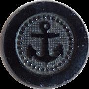 Antique Victorian Black Glass Anchor Button