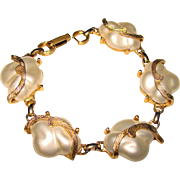 Fabulous JUDY LEE Signed Vintage Baroque Faux Pearl Bracelet