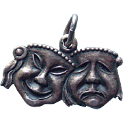 Unusual Sterling Comedy Tragedy Vintage Charm