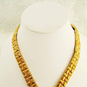 SALE Vintage Nina Ricci for Avon Gold Tone Necklace