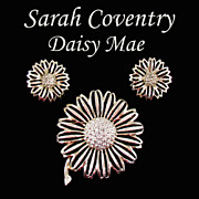 SALE Vintage Sarah Coventry 'Daisy Mae' Brooch and Earring Set - Early 1960s