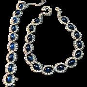"""Simulated """"Gem"""" Encrusted Kramer of New York Superb Necklace & Bracelet"""