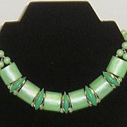 Plastic Vintage Chunky Choker Necklace - Western Germany
