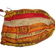 SOLD Victorian Reticule Purse Made of Cigar Silks