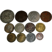SOLD 12 Vintage Coins 1878-1970 German Mexican Spanish ++