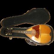 SOLD Vintage Wood Mandolin Instrument with Case