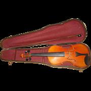 SOLD Vintage Wood Violin Stradivarius Copy Made in Czecho-Slovakia