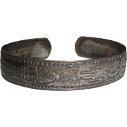 Sterling Silver Binder Brothers Cuff Bracelet with Native American Symbols