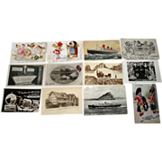 SOLD 12 Vintage Postcards - French, Queen Mary, Shakespeare