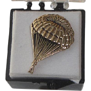 SOLD Goldtone Pin from Pioneer Parachute Co - Manchester CT WWII Manufacturer