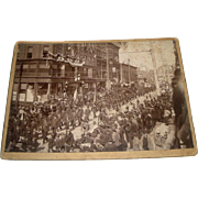 SOLD Vintage Photo of Military Parade & Chamberlain Huntress Co.