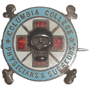 SOLD Vintage Columbia College Physicians & Surgeons Pin with Skull & Crossbones