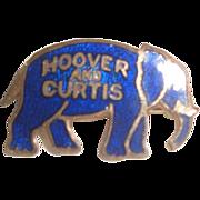 SOLD Vintage Enameled Hoover & Curtis Elephant Political Pin