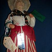 "10"" Signed Ravca  Cloth Doll Paris Free P&I US Buyers"