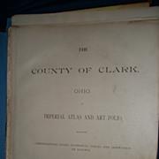 Oho The County of Clark Springfield 1894 Atlas Art Folio Maps Fee P&I US Buyers