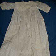 Very Old handmade High Bodice Long doll dress for bisque china doll repair needed free ...