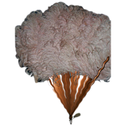 Lovely vintage Ladies Pink Feather Fan Free P&I US Buyers