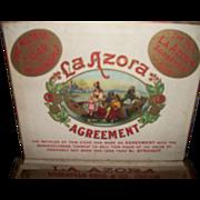 Cigar Label Art La Azora Agreement Wooden Cigar Box Free P&I US Buyers