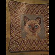 Bucilla Needlepoint Siamesse Kitten Pillow Kit Free P&I US Buyer