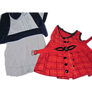 2 nice outfits for Plastic or Compo Dolls Free P&I US Buyes