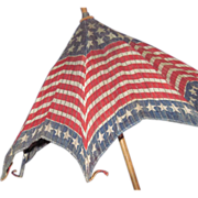 SOLD 1900's Stars & Stripes Parade Parasol Flag Patriotic Umbrella Free P&I US Buyers