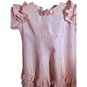 SOLD Vintage tagged Taffeta Cinderella Shirley Temple Dress for larger dolls free P&I US Buyer