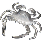 Unique old Crab Aluminum Ink Well free P&I US Buyers